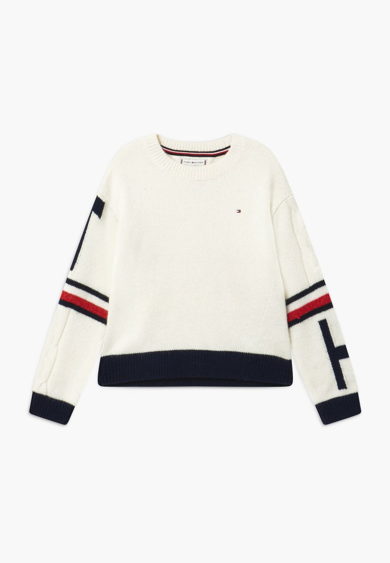 Tommy Hilfiger - TOMMY COLLEGIATE  - Trui - ivory petal