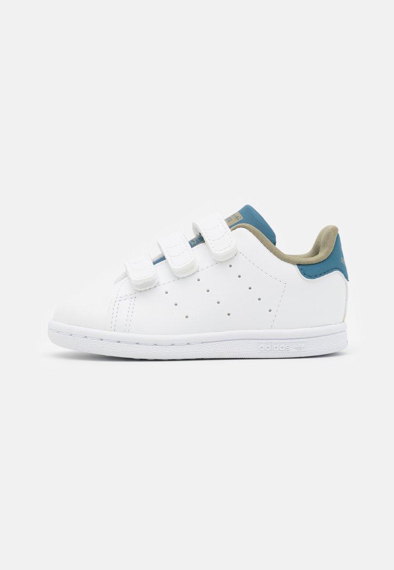 adidas Originals - STAN SMITH ORIGINALS PRIMEGREEN SHOES UNISEX - Trainers - footwear white/orbit indigo
