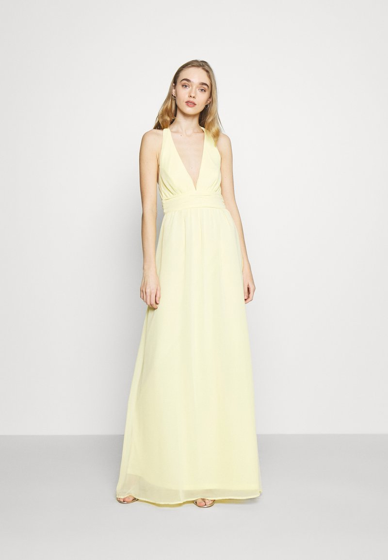 Nly by Nelly - LOVEABLE CROSS BACK GOWN - Occasion wear - light yellow