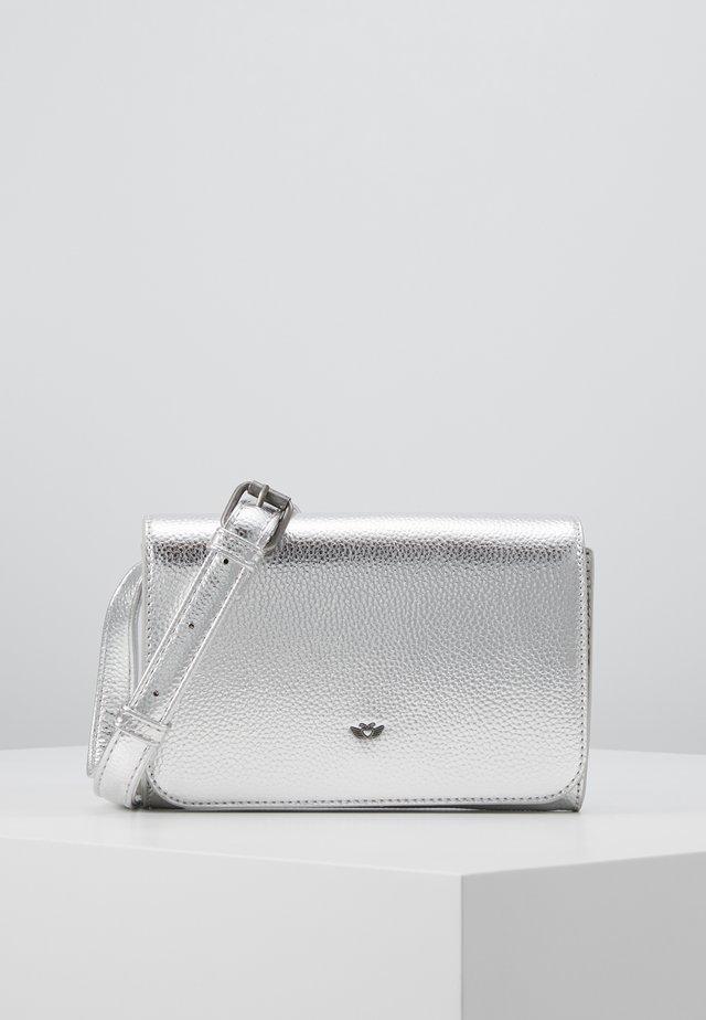 POSHBAG - Sac bandoulière - silver