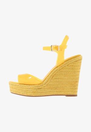 ZERRASEN - High heeled sandals - light yellow