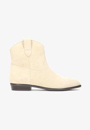 SIMONETTA - Kovbojské/motorkářské boty - beige