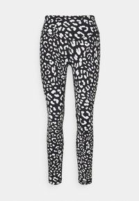 L'urv - SHARP CONTRAST LEGGING - Leggings - black - 0