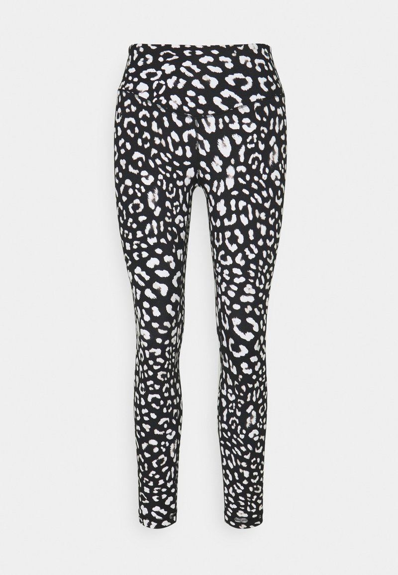 L'urv - SHARP CONTRAST LEGGING - Leggings - black