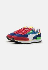 Puma - FUTURE RIDER PLAY ON UNISEX - Trainers - american beauty/white - 1