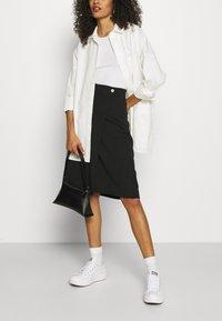 Zign - Wrap skirt - black - 3