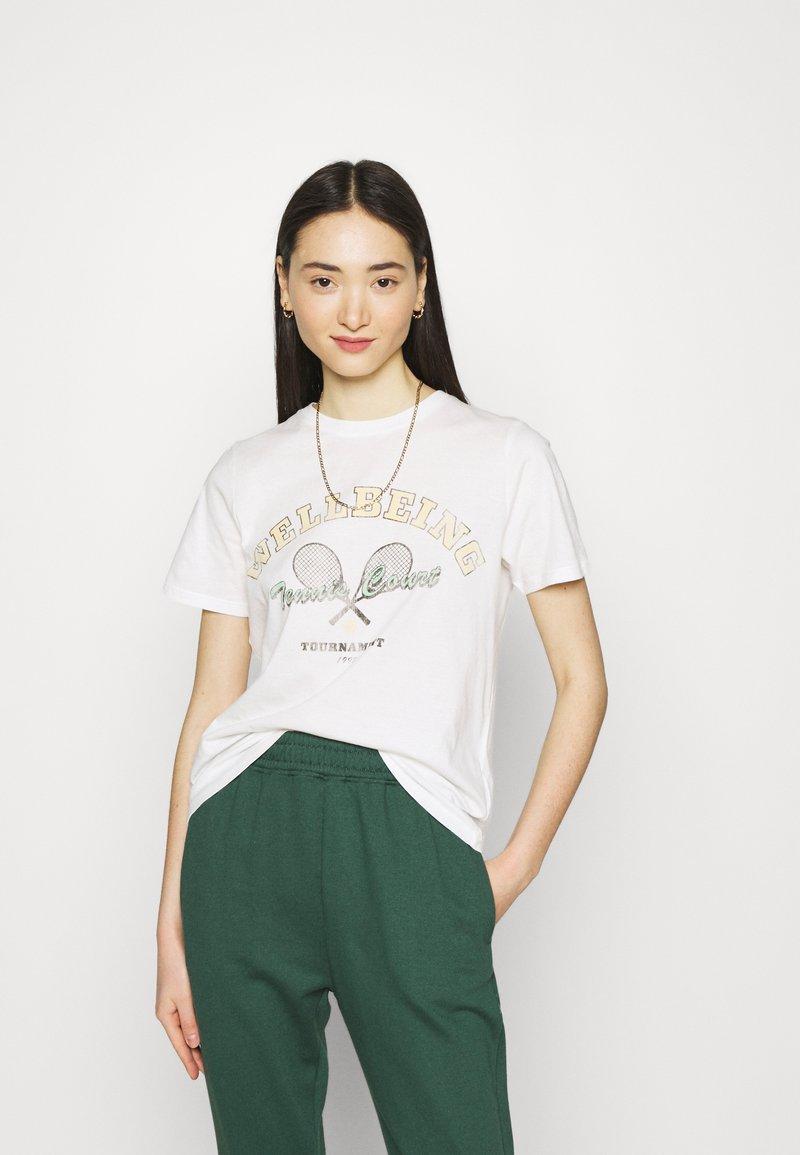 Gina Tricot - IDA TEE - Print T-shirt - offwhite