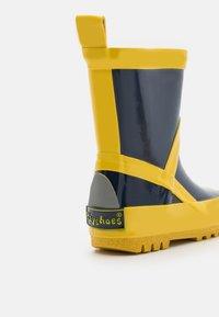 Playshoes - UNISEX - Wellies - marine/gelb - 5