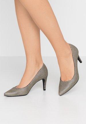 Classic heels - gold glam