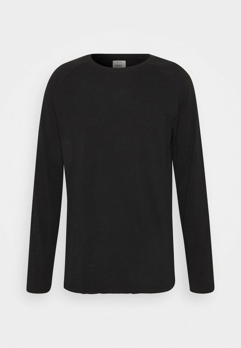 Redefined Rebel MICHAEL TEE - Langarmshirt - black/schwarz gHQ9Bc