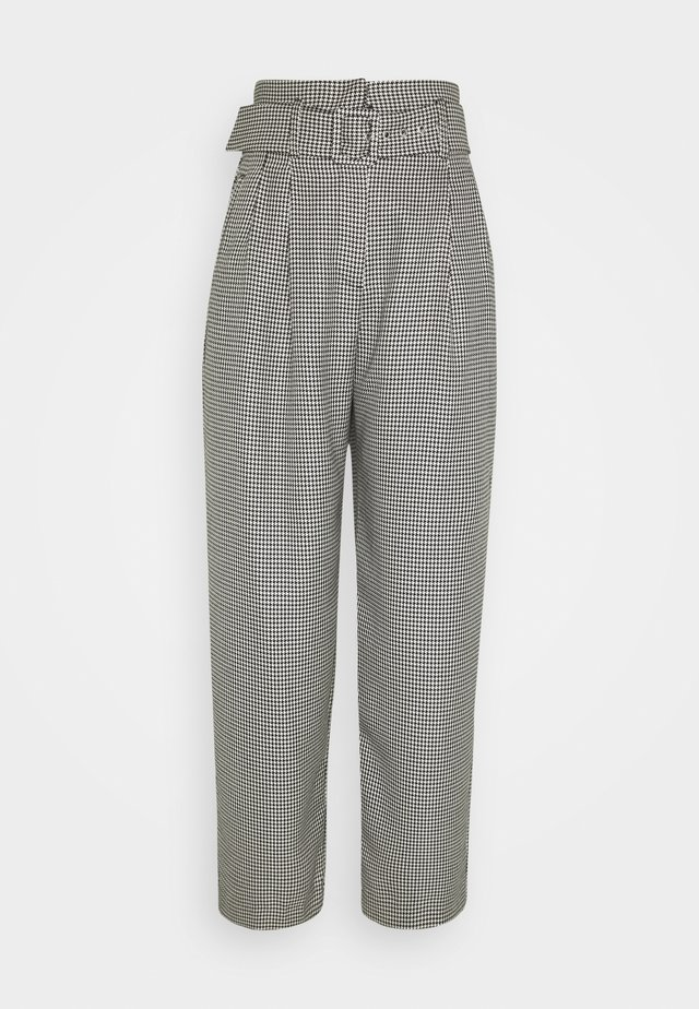KATE TROUSERS - Trousers - black/off-white
