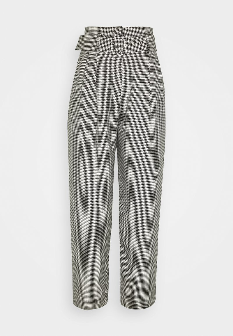 EDITED - KATE TROUSERS - Trousers - black/off-white