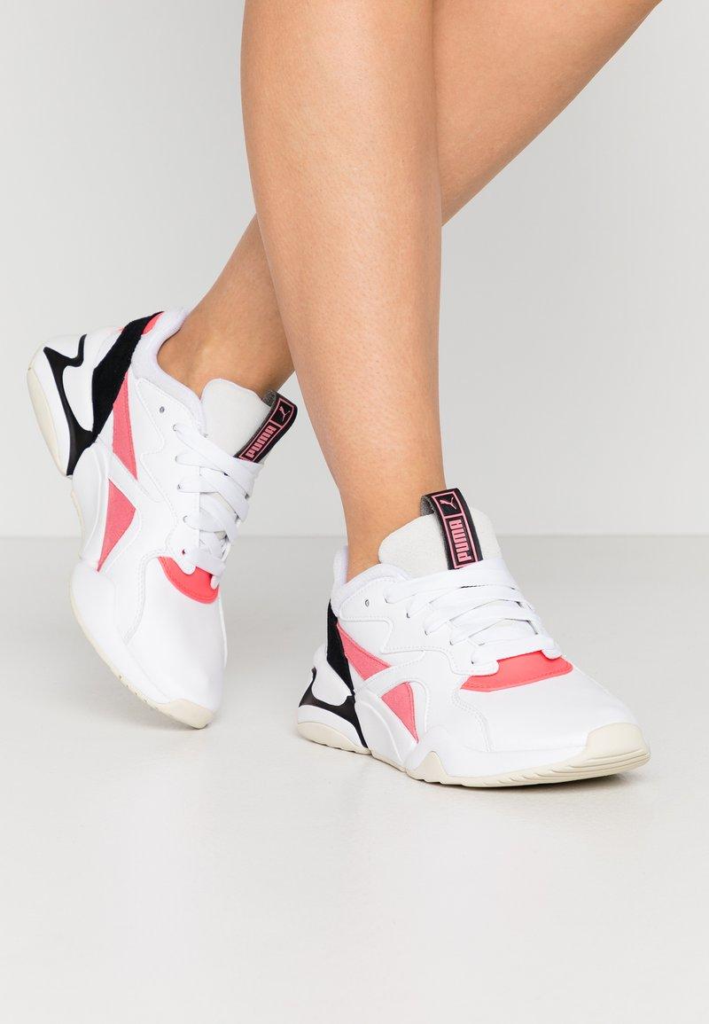 Puma - NOVA POP  - Trainers - white/bubblegum/ignite pink