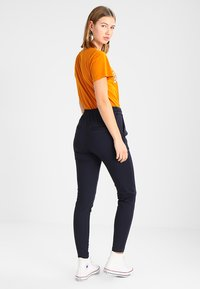 Vero Moda - VMEVA LOOSE STRING PANTS - Trousers - night sky - 2
