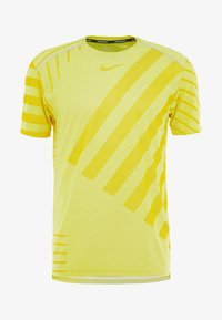 Nike Performance - TECH COOL  - Print T-shirt - volt/dark sulfur/reflective silver - 5