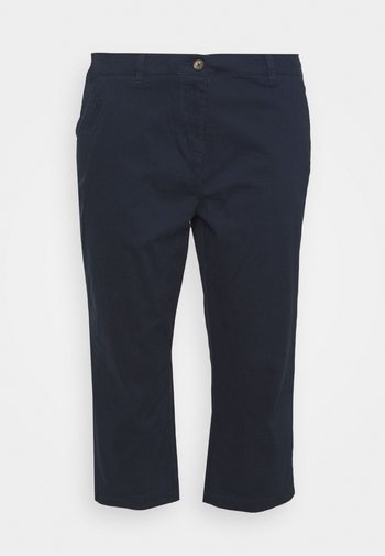 CROP CHINOS - Shorts - navy