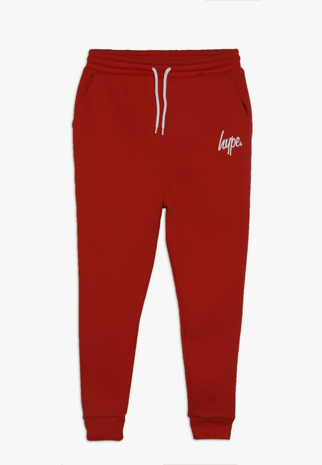 KIDS  SCRIPT - Tracksuit bottoms - red