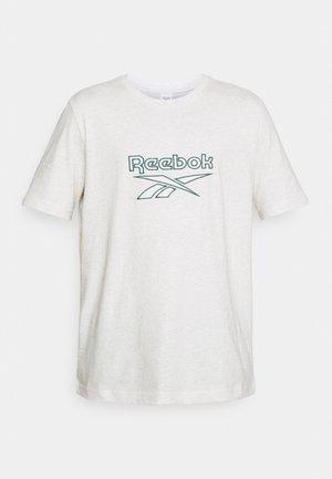 VECTOR TEE - Camiseta estampada - chalk