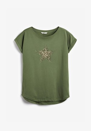 GRAPHIC CURVED  - Print T-shirt - khaki