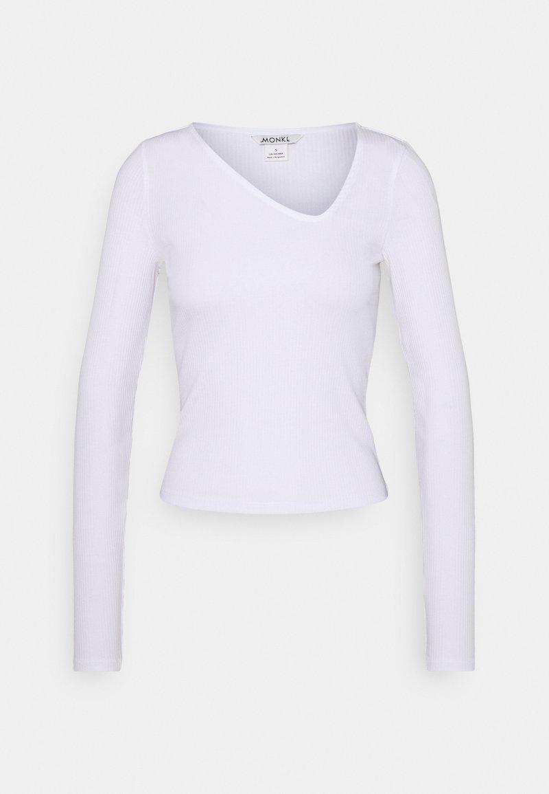 Monki - DAISY  - Long sleeved top - white light
