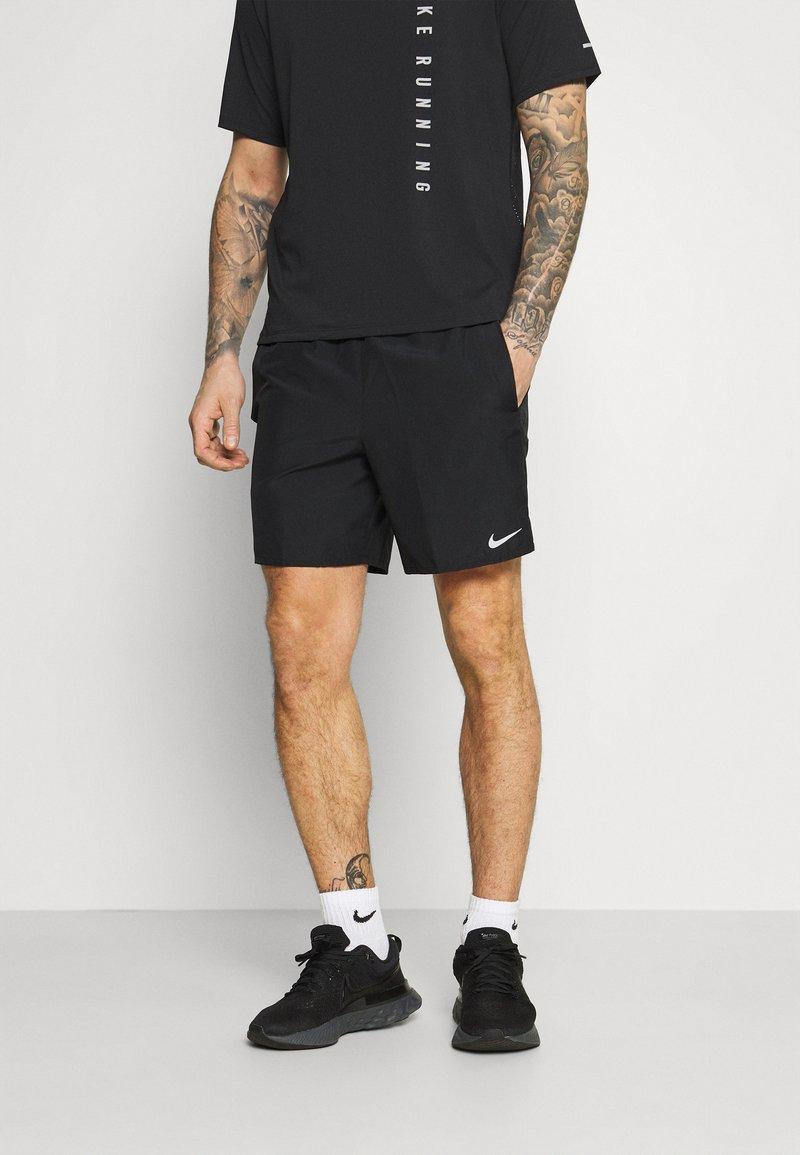 Nike Performance - CHALLENGER SHORT  - Sports shorts - black/reflective silver