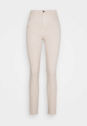SINNER HIGH WAISTED MINIMAL DISTRESS - Jeans Skinny - ecru
