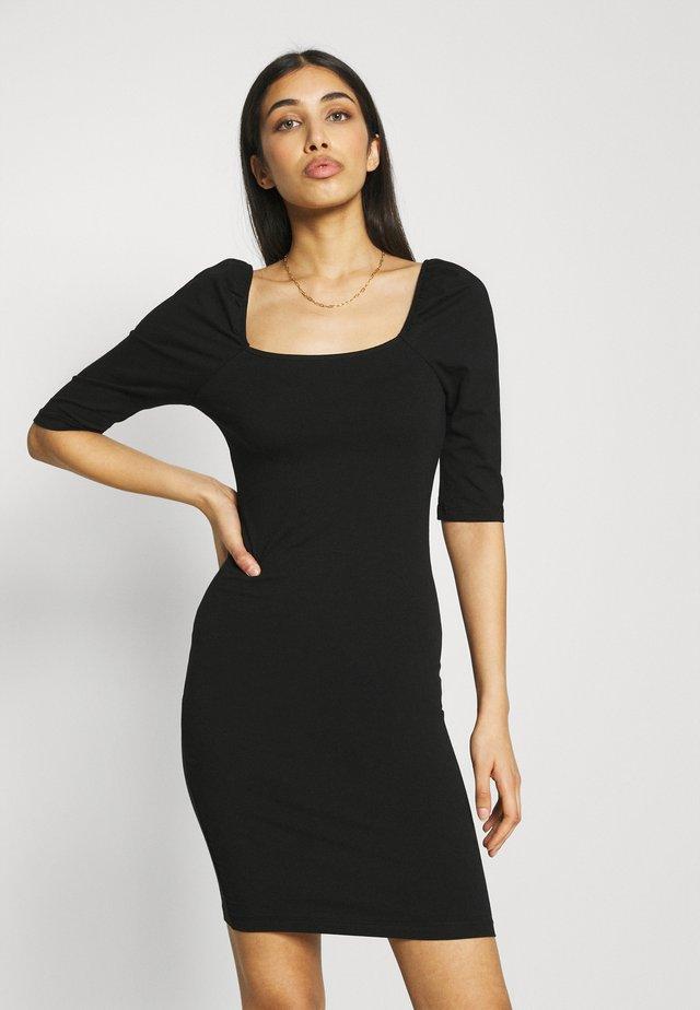 VMGLORIA SHORT DRESS - Žerzejové šaty - black