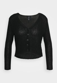 New Look Petite - STITCHY CARDIGAN - Cardigan - black - 0