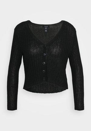 STITCHY CARDIGAN - Cardigan - black