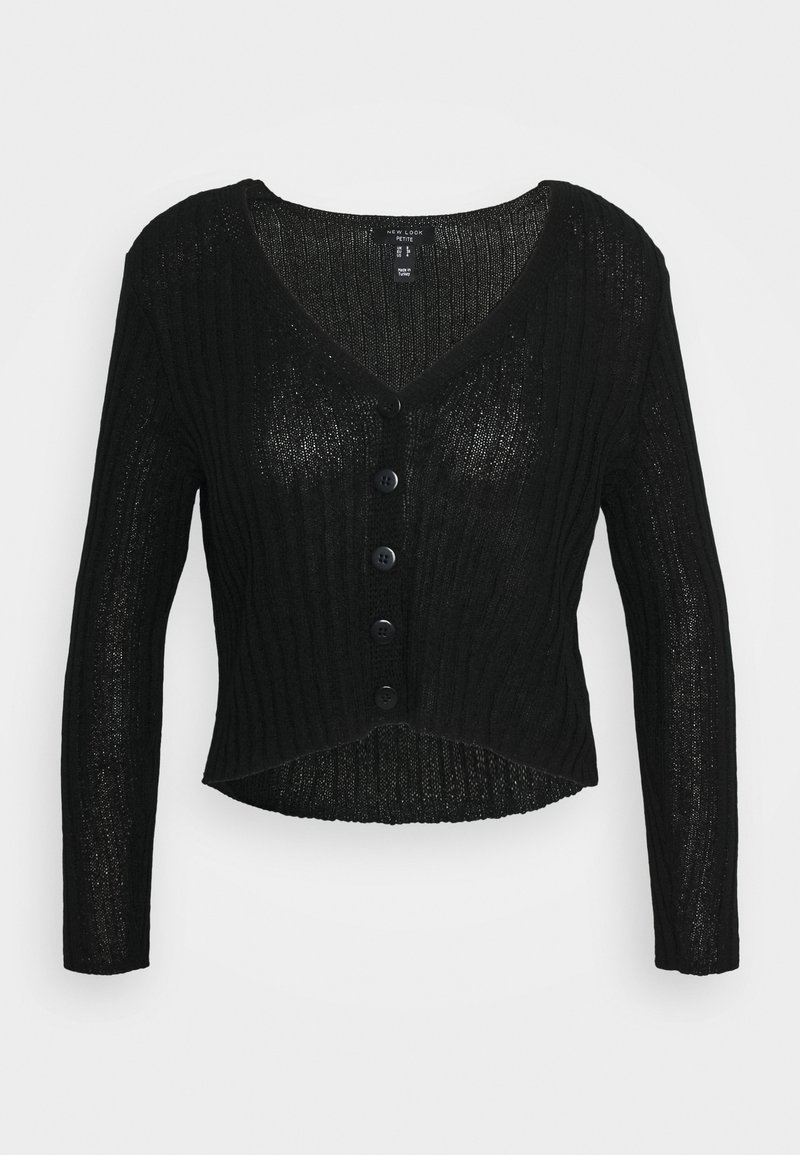 New Look Petite - STITCHY CARDIGAN - Cardigan - black