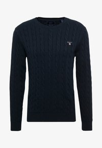 GANT - CABLE CREW - Neule - evening blue - 3
