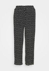 Simply Be - WIDE LEG PLISSE TROUSERS - Pantaloni - black - 6