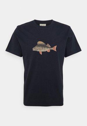 PERCH - Print T-shirt - navy