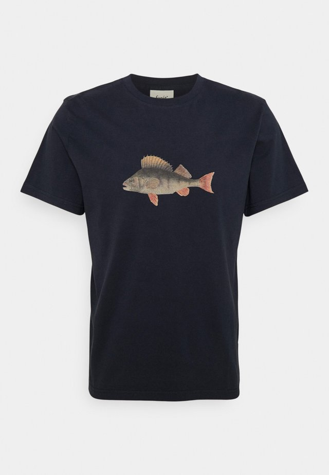 PERCH - T-shirt con stampa - navy