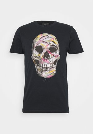 MENS SLIM FIT SKULL - Triko s potiskem - dark blue