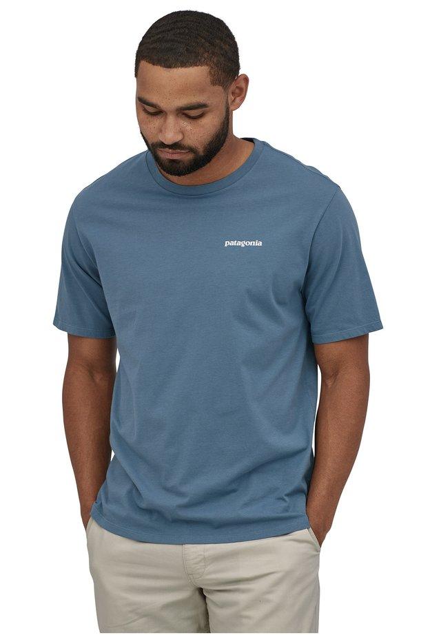 Print T-shirt - pigeon blue