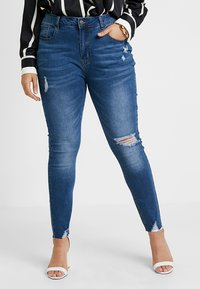 Even&Odd Curvy - Jeans Skinny - dark blue denim - 0