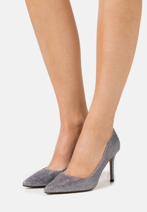 DELE SHIMMER COURT - Højhælede pumps - pewter