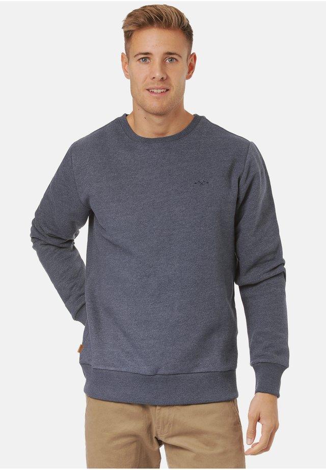BURWOOD - Sweater - navy / navy mel.