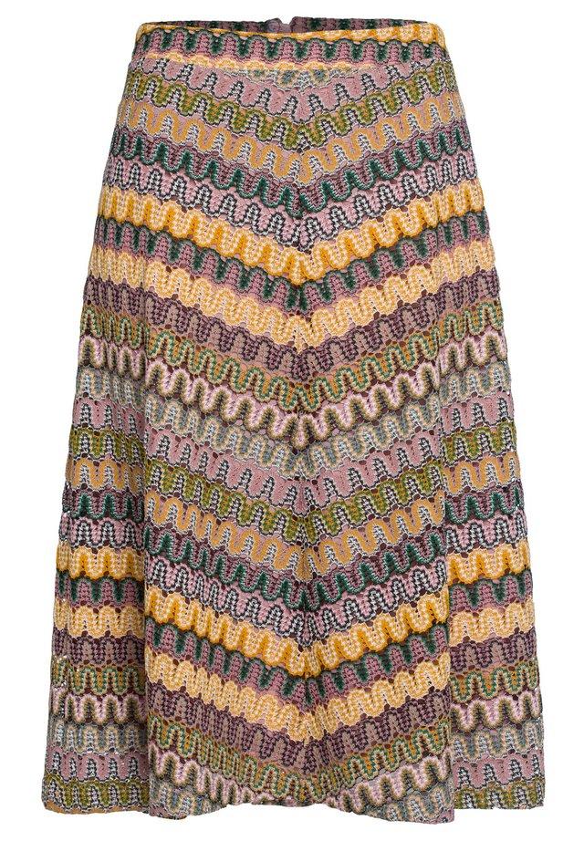 A-line skirt - brown/beige