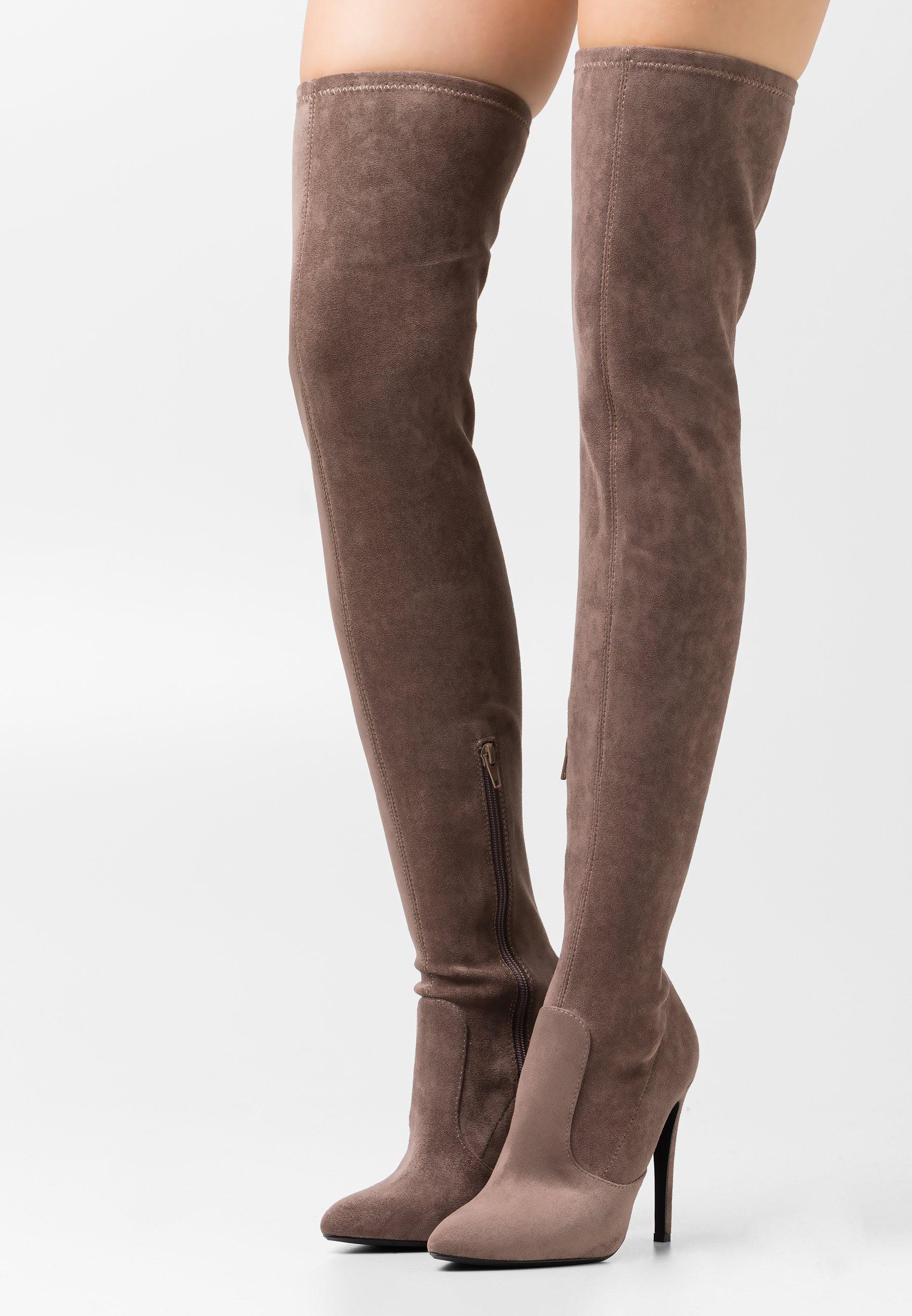 Femme VEGAN MARJORIE - Bottes à talons hauts - taupe