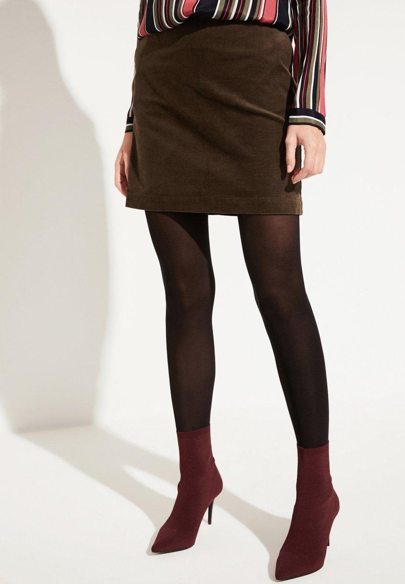 comma casual identity - Mini skirt - dark khaki