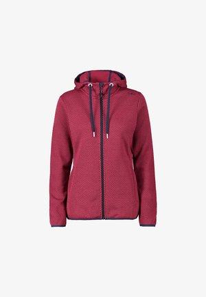 KNITTECH  - Fleece jacket - 05hh sangria-b.blue