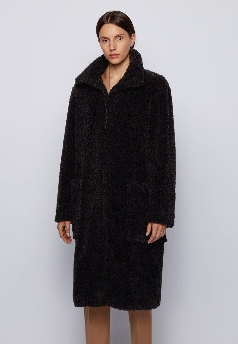 BOSS - Classic coat - black