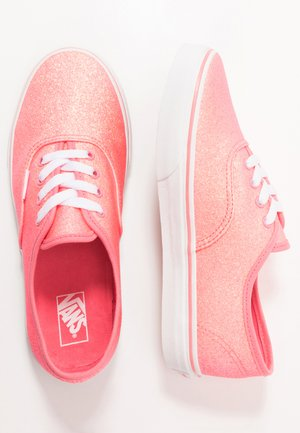 AUTHENTIC - Matalavartiset tennarit - neon glitter pink/true white