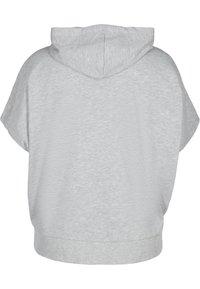 Active by Zizzi - Zip-up sweatshirt - light grey melange - 4
