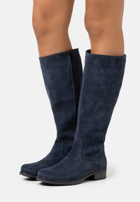 Anna Field - LEATHER - Boots - dark blue - 0