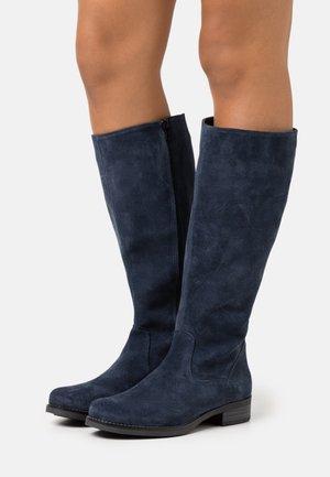 LEATHER - Vysoká obuv - dark blue