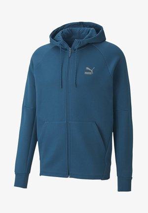 Zip-up hoodie - digi-blue