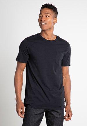 SOLID POCKET S/S TEE - T-shirt basique - black